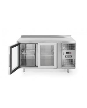 Stół chłodniczy 3-drzwiowy, przeszklony z agregatem bocznym