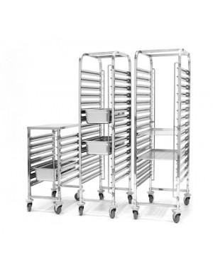 Wózek do transportu pojemników - 15x GN 1/1 - 15 x 600x400 mm