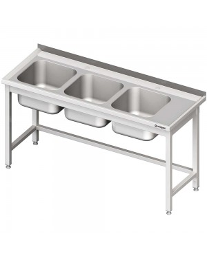 Stół ze zlewem 3-kom.(L),bez półki 1800x600x850 mm