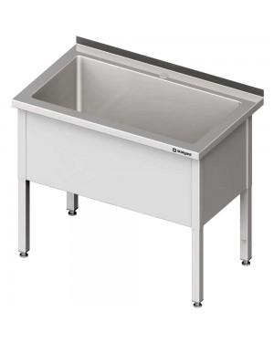 Stół z basenem 1-komorowym skręcany 1000x600x850 mm h=400 mm