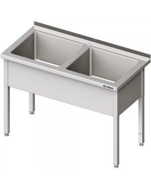 Stół z basenem 2-komorowym skręcany 1600x600x850 mm h=300 mm