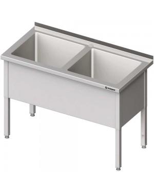 Stół z basenem 2-komorowym spawany 1200x600x850 mm h=400 mm