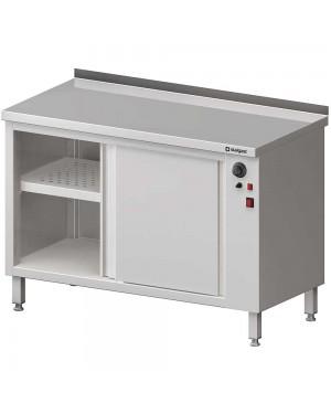 Stół przyścienny, z szafką grzewczą,drzwi suwane 1300x700x850 mm
