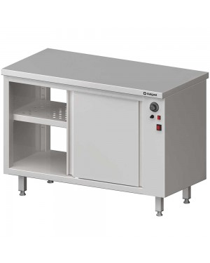 Stół przelotowy, z szafką grzewczą,drzwi suwane 1100x700x850 mm