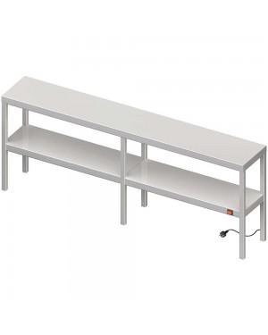 Nadstawka grzewcza na stół podwójna  1600x300x700 mm