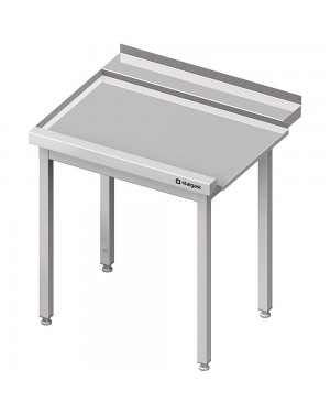 Stół wyładowczy(L), bez półki do zmywarki SILANOS 900x755x880 mm skręcany