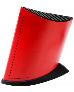 Blok na 9 noży w kształcie żaglowca – czerwony Global GKB-52CR