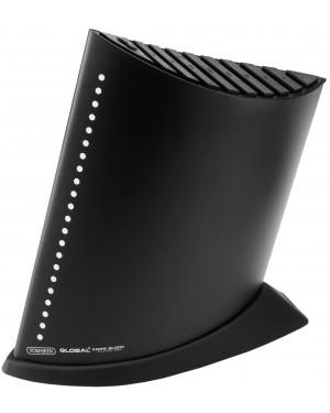Blok na 9 noży w kształcie żaglowca kolor czarny Global GKB-52CB