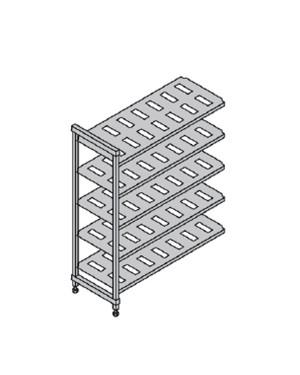CAMBRO BASIC regał dodatkowy 5 półek 54x154x183cm