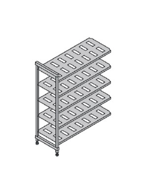 CAMBRO BASIC regał dodatkowy 5 półek 61x122x183cm