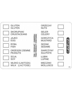 LABELFRESH etykieta alergeny