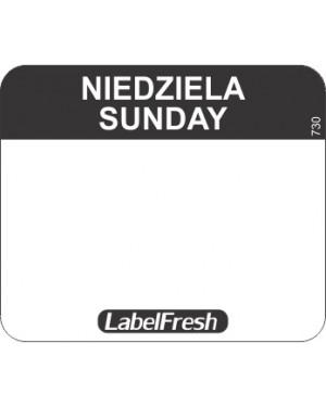LABELFRESH etykieta EASY niedziela