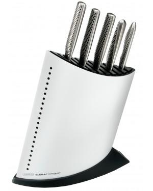 Komplet 5 noży w białym bloku Global GKB-52CW-SET5