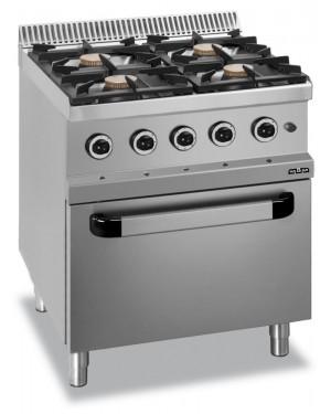 Kuchnia gazowa 4 palnikowa z piekarnikiem elektrycznym GN 1/1 MBM