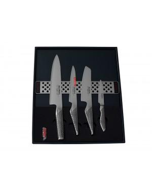 Zestaw 4 noże + listwa magnetyczna Global G-251138/M30
