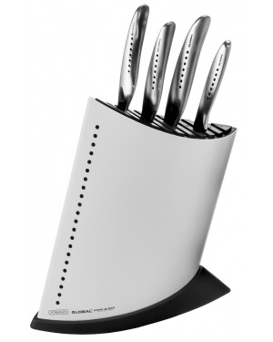 Komplet 4 noży w białym bloku Global SAI GKB-52CW-SAI4001