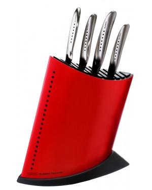Komplet 4 noży Global SAI w czerwonym bloku GKB-52CR-SAI4001