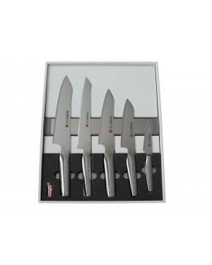 Zestaw 5 noży + listwa magnetyczna Global NI GN-5005A/M30