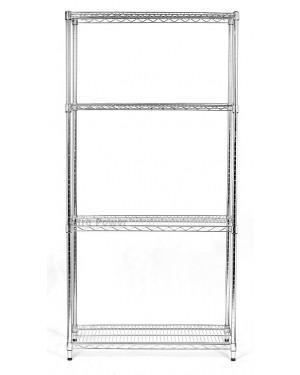 Regał 61x152x182cm chromowany 4 półki