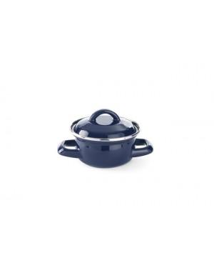Garnek do zup i sosów z pokrywką czarny pojemność 0,6 l