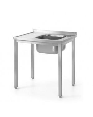 Stół z jednym zlewem – prawy - skręcany 1000 x 600