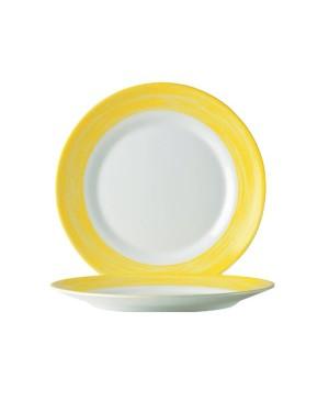 BRUSH talerz deserowy żółty 195mm / 6/ 24