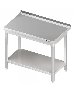 Stół przyścienny z półką 1000x600x850 mm skręcany
