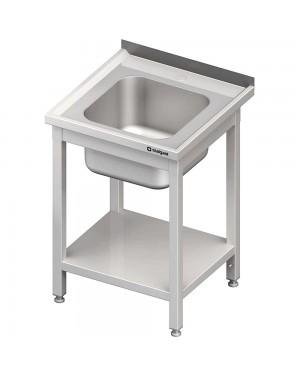Stół ze zlewem 1-kom.,z półką 600x600x850 mm spawany