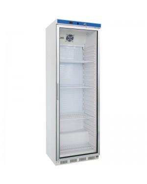 Witryna chłodnicza ekspozycyjna 350 l, wnętrze z ABS, biała lakierowana