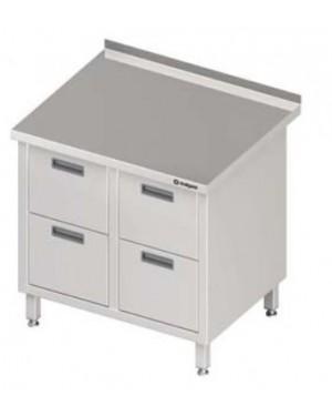 Stół przyścienny z blokiem czterech szuflad 840x700x850 mm