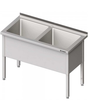 Stół z basenem 2-komorowym skręcany 1400x700x850 mm h=400 mm