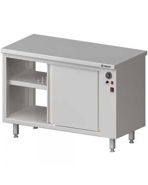 Stół przelotowy, z szafką grzewczą,drzwi suwane 1200x600x850 mm
