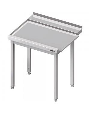 Stół wyładowczy(L), bez półki do zmywarki SILANOS 1000x755x880 mm spawany