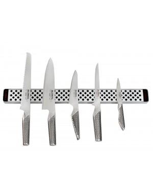 Listwa magnetyczna 51cm z 5 nożami | Global G-4251-SET5