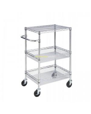 ULTRA POWER Wózek chromowany 46x61x100cm 2 kosze i 1 półka
